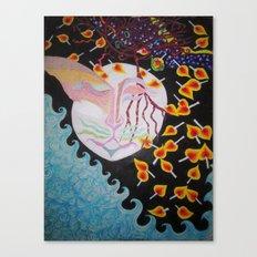 Moon Shiva Wishing Well Canvas Print