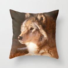 Wolf Beauty Throw Pillow