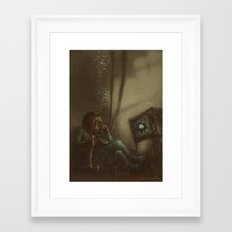 Trapped In A Box Framed Art Print