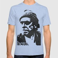 Charles Bukowski - hero. Mens Fitted Tee Tri-Blue SMALL