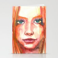 Portrait - RedHair & Fre… Stationery Cards