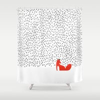 Black grass Shower Curtain