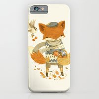 iPhone Cases featuring Fritz the Fruit-Foraging Fox by Teagan White