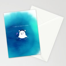 i want to leave to travel... Stationery Cards