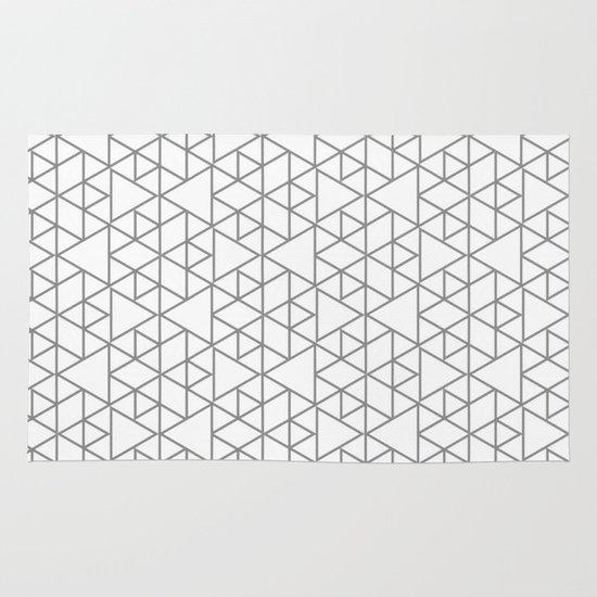 Karthuizer Grey & White Pattern Area & Throw Rug