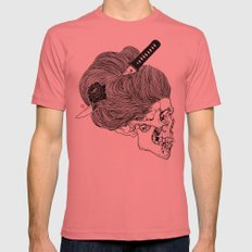 A Lady From Japan Mens Fitted Tee Pomegranate SMALL