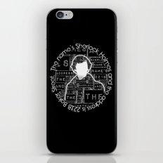 Sherlock BBC: Type iPhone & iPod Skin