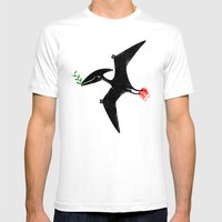 PTERODACTYL OF PEACE Mens Fitted Tee White SMALL