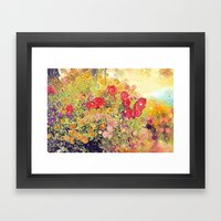 Colorful Flower Basket P… Framed Art Print