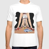 Abides Ride Mens Fitted Tee White SMALL