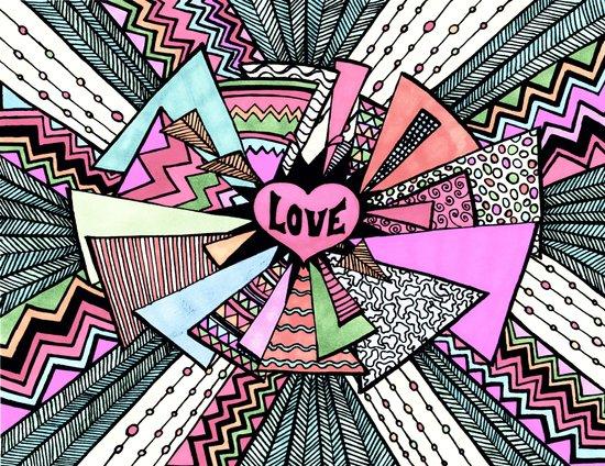 Power of LOVE...(retro pastel) Art Print