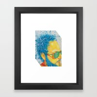 Ray Ban Man Framed Art Print