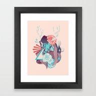 Springtime Nymph Framed Art Print