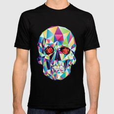 Geometric Candy Skull Mens Fitted Tee Black SMALL
