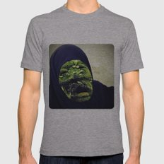 Strange Face Mens Fitted Tee Athletic Grey SMALL
