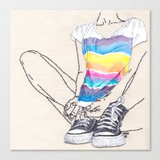 Roarie and Her Chucks Canvas Print
