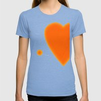 My Love For You Womens Fitted Tee Tri-Blue SMALL