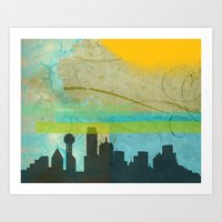 Locals Only: Dallas In D… Art Print