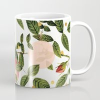 Leaves + Dots Mug