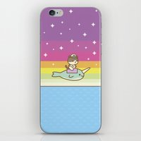 Admiral Whiskers Magical Narwhal Ride iPhone & iPod Skin
