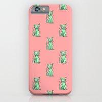 Crazy Cat (Green/Red) iPhone 6 Slim Case