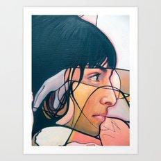 Keyana Abstrotica closeup Art Print