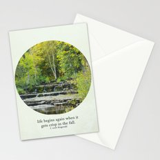 fall leaves + f scott fitzgerald Stationery Cards