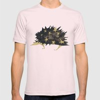Star hedgehog Mens Fitted Tee Light Pink SMALL