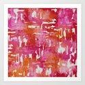 Mystic Cloud 9: Red Multi Art Print