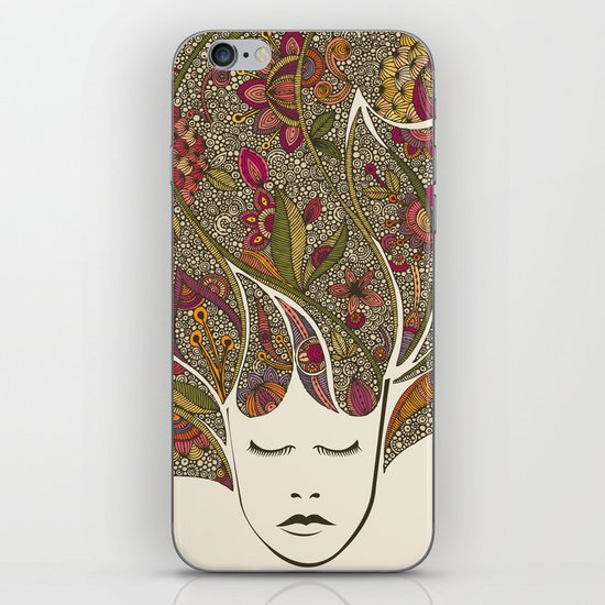 Dreaming with flowers iPhone & iPod Skin