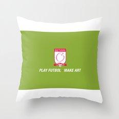 Play Futbol, Make Art Throw Pillow