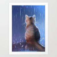 under rainy days like these Art Print