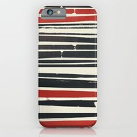 iPhone & iPod Case featuring Navy Red Stripes by Monty