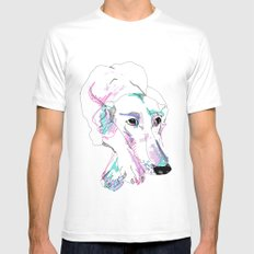 Lurcher Mens Fitted Tee White SMALL
