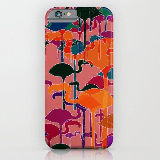 multicoloured flamingos iPhone & iPod Case