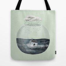 Glass Bowl House Tote Bag