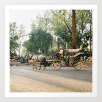 Caleche / Horse Carriage… Art Print