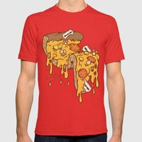 Cheezy Mens Fitted Tee Red SMALL