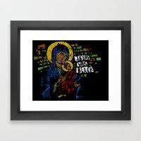 Jesus Was Black Framed Art Print