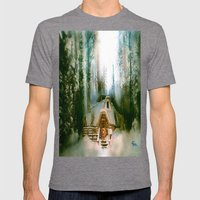 HOBBIT HOUSE Mens Fitted Tee Tri-Grey SMALL