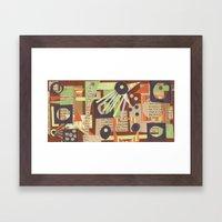 Louise's Lash Framed Art Print
