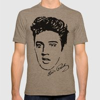 Elvis! Mens Fitted Tee Tri-Coffee SMALL