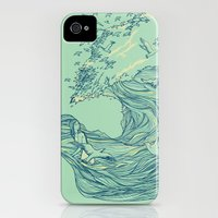 iPhone 4s & iPhone 4 Cases featuring Ocean Breath by Huebucket