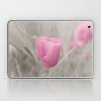 Pink poppy the Lady flower Laptop & iPad Skin