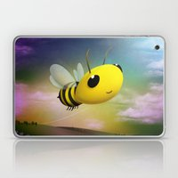 Bee Flying On Colour Sky Laptop & iPad Skin