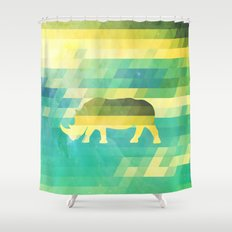 Orion Rhino Shower Curtain