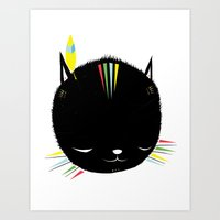 MIGHTY TIGARRR, BLACK KITTEN 묘 Art Print