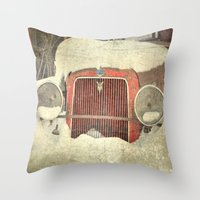Ford in Winter Throw Pillow