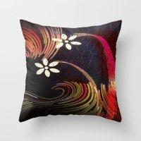 Swirly Girly Throw Pillow