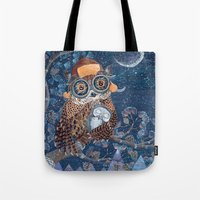 Owl and baby owlet Tote Bag